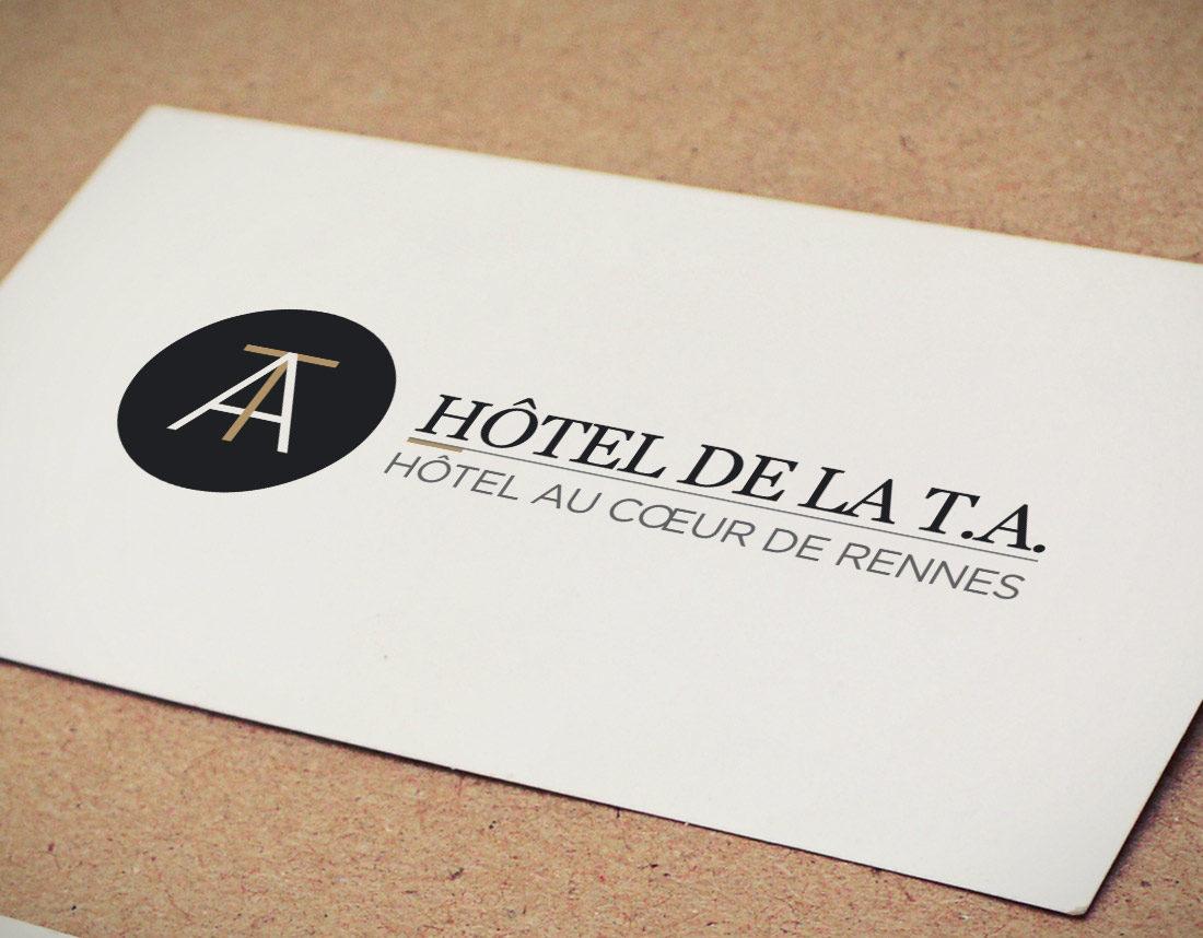 Logo hôtel, identité graphique, tourisme