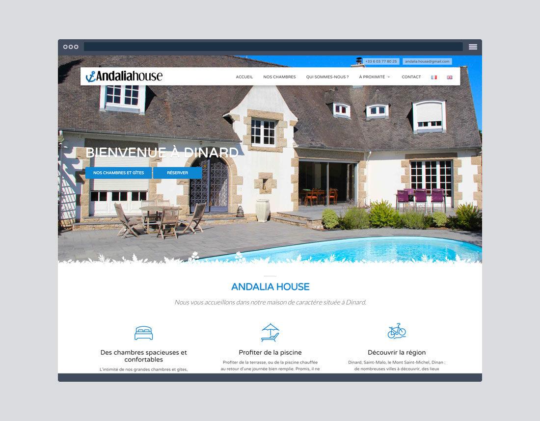 Création site internet chambre d'hôtes, photos, vidéo de présentation