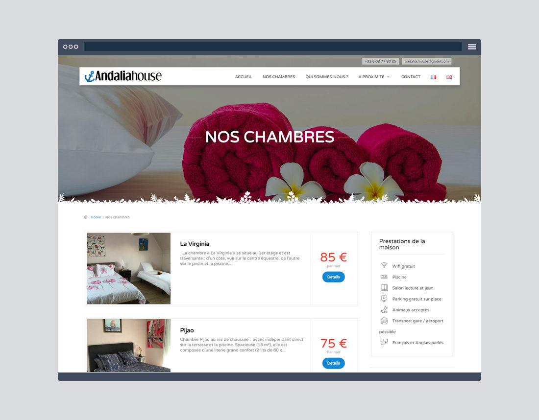 Site internet chambre d'hôtes et gîtes, video d'entreprise