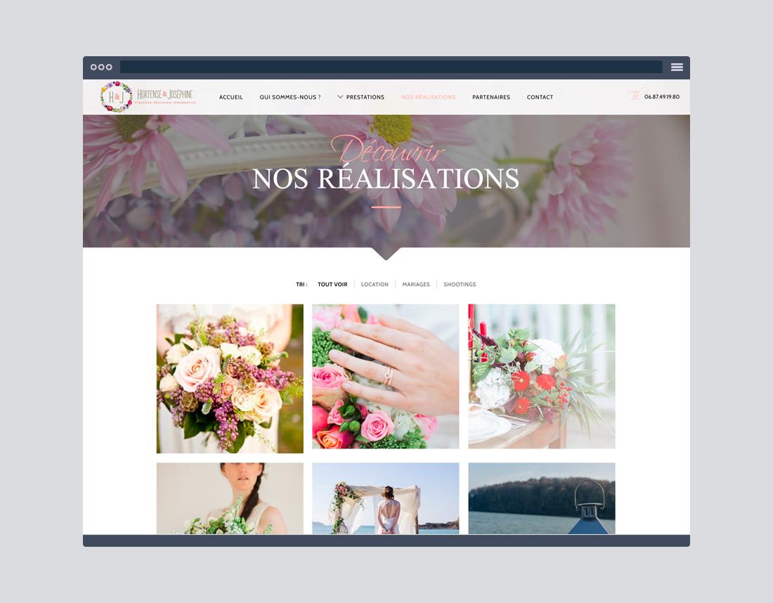 Création site internet fleuriste mariage, artisan, association