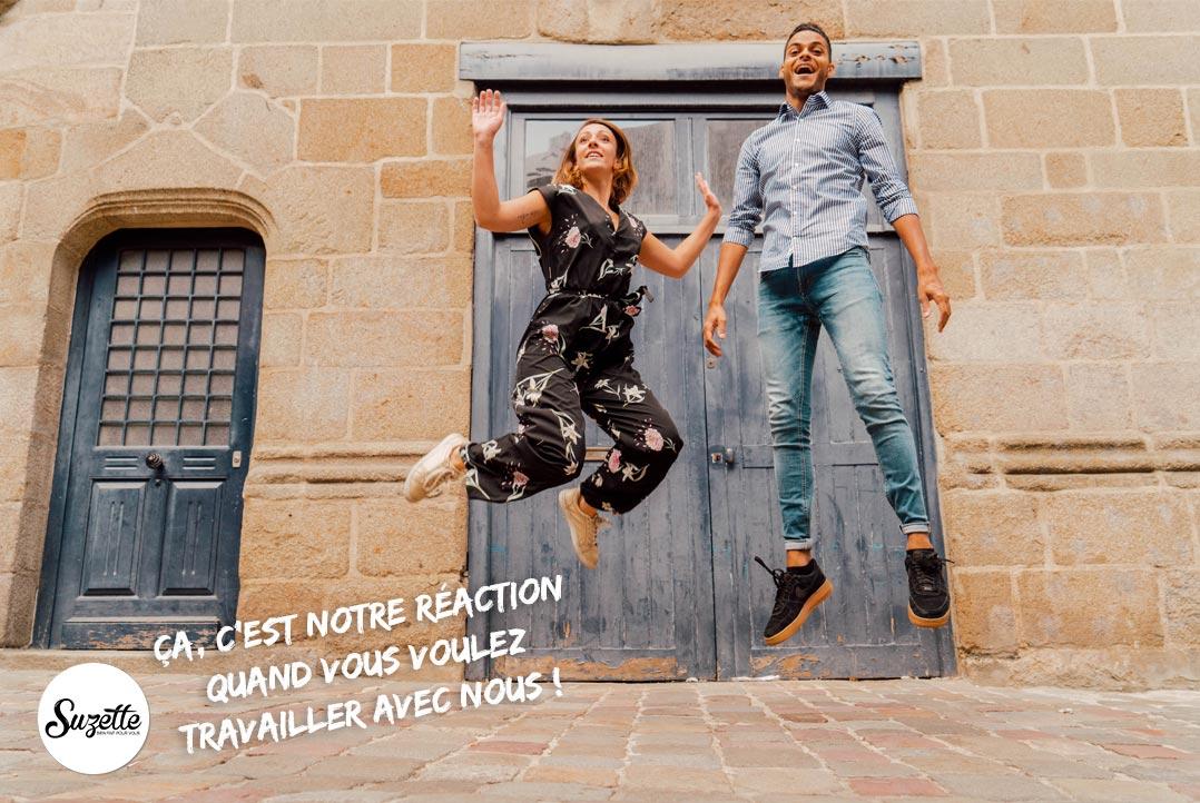 Agence de communication pour petites entreprises à Rennes : Klervia Buan et Alessandro Cristoforetti