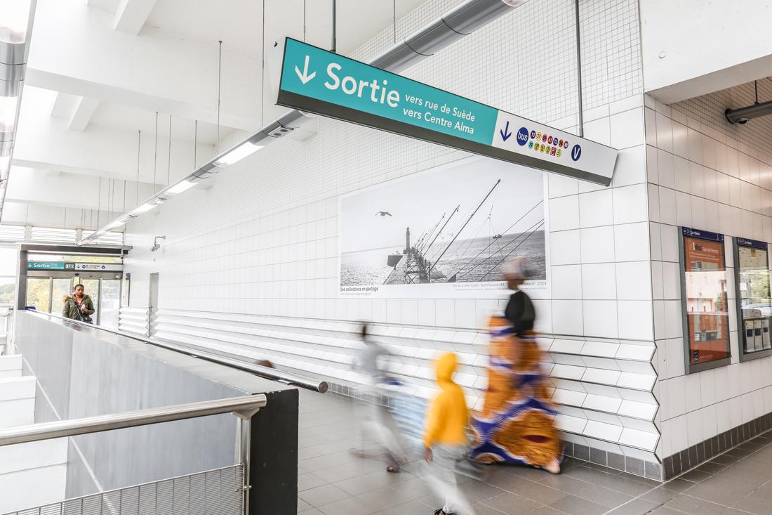 Reportage photo de l'exposition du musée de Bretagne, métro de Rennes