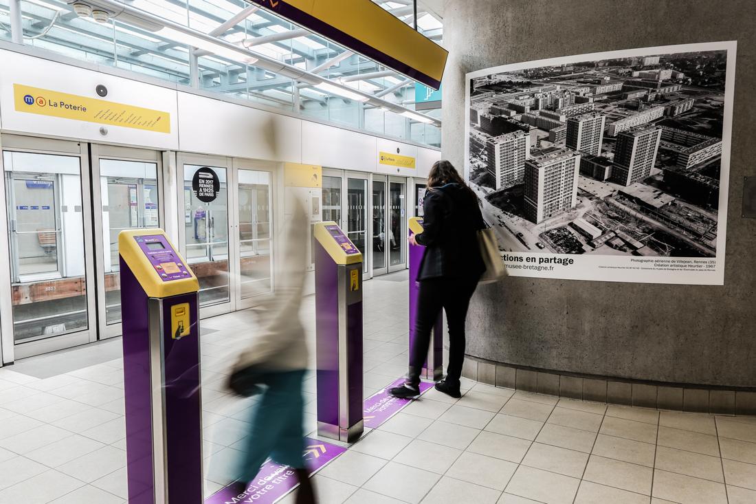 Reportage photo dans le métro de Rennes