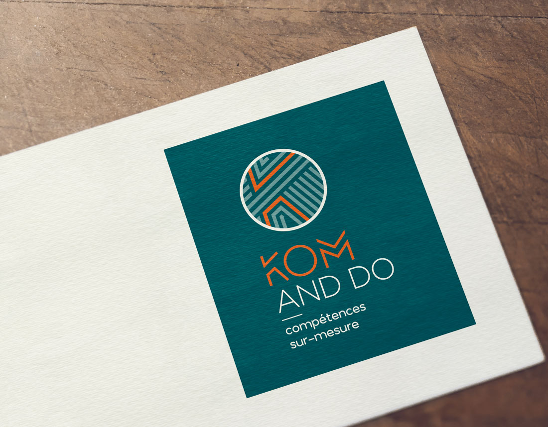 Création du logo de la société Kom & Do qui propose du partage de compétences.