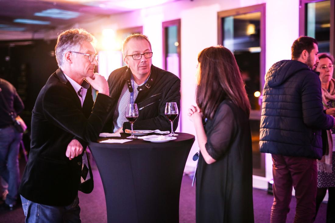 Photographies lors du cocktail de l'inauguration des locaux d'A2COM, Pacé