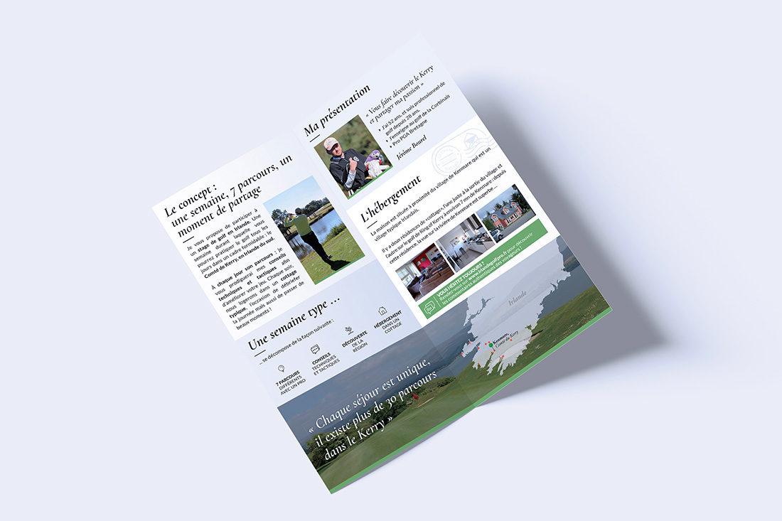 Dépliant Irlande Golf Pro, séjours golf en Irlande