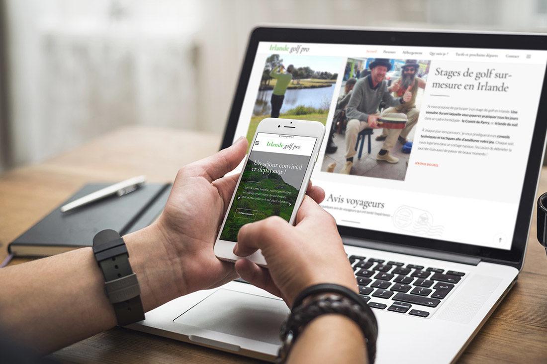 Création du site internet Irlande Golf pro, responsive design