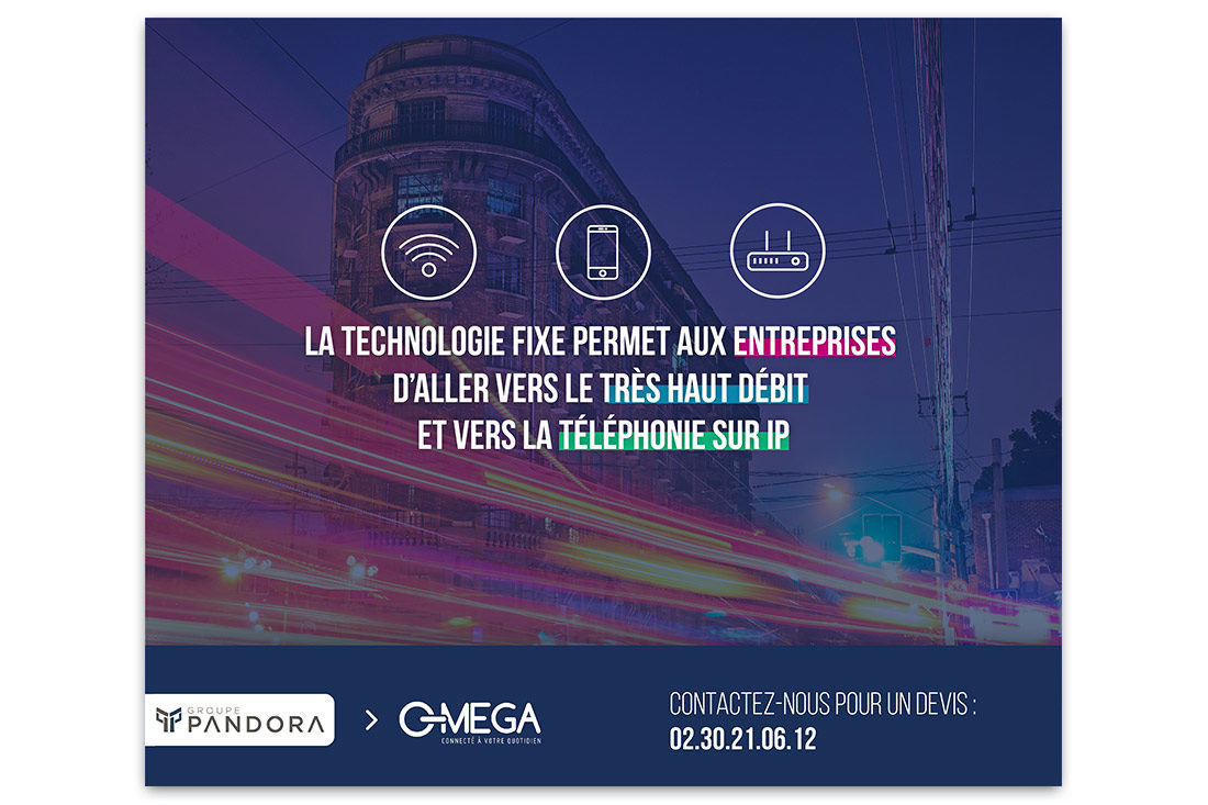 Visuel pour le service OMEGA proposé par le groupe Pandora