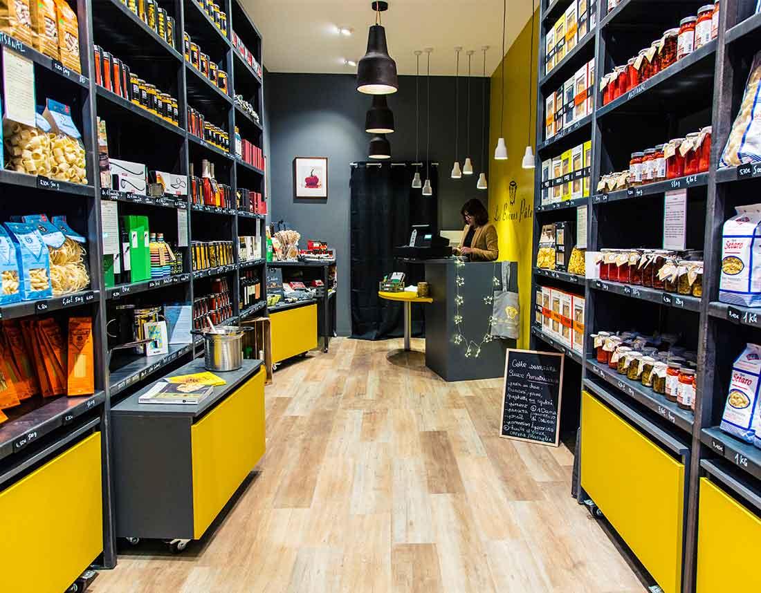 Réalisation d'une série de photographies de l'intérieur de la boutique Les Bonnes Pâtes