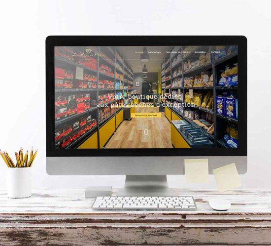 Agence de communication : réalisation du site internet de la boutique Rennaise Les Bonnes Pâtes