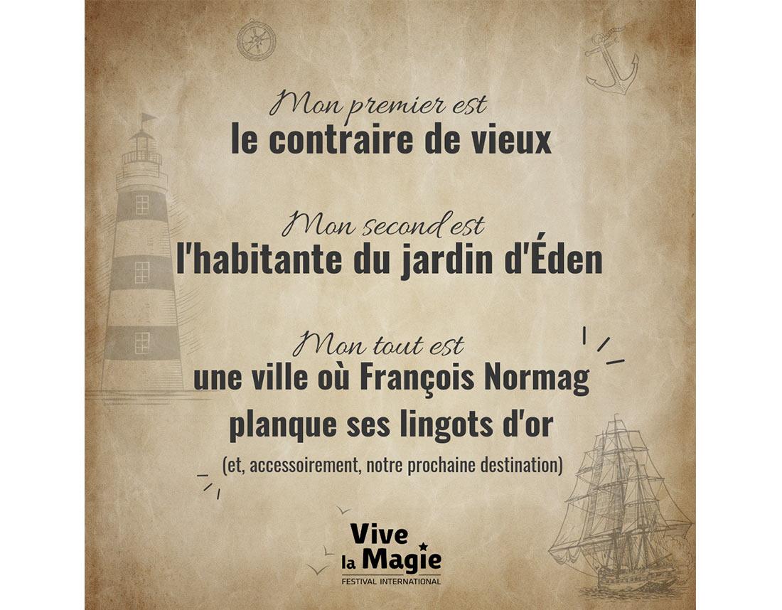 Organisation d'animations pour les réseaux sociaux du festival Vive la Magie