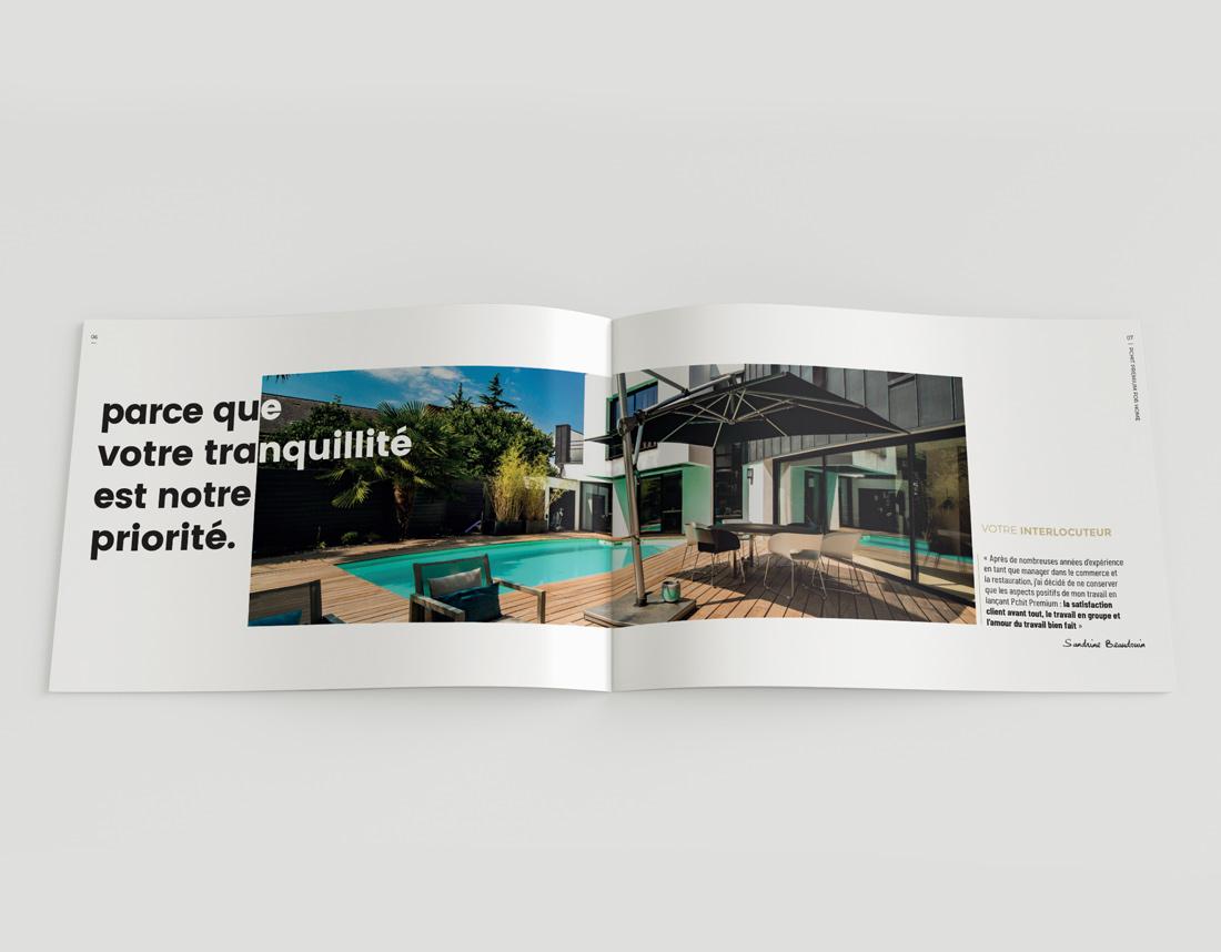 Nous avons créé la brochure de l'entreprise Pchit Premium - Suzette communication