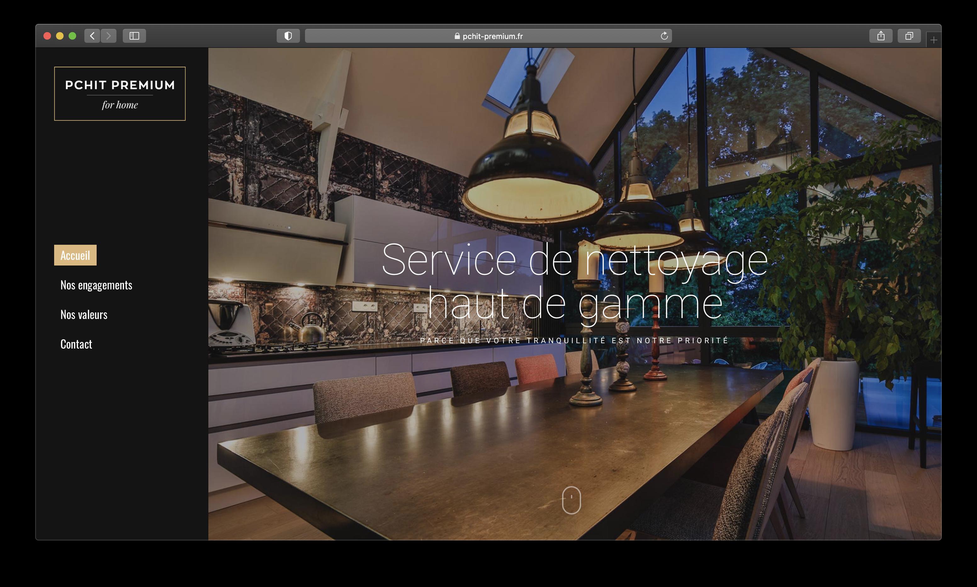 Création du site internet de l'entreprise Pchit Premium à Betton, par l'agence Suzette - Rennes.